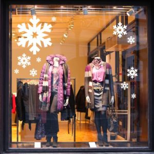 Christmas shop window display stickers