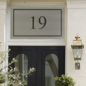 Personalised house number stickers