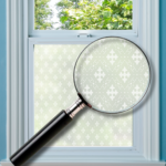 Heritage patterned window film for privacy