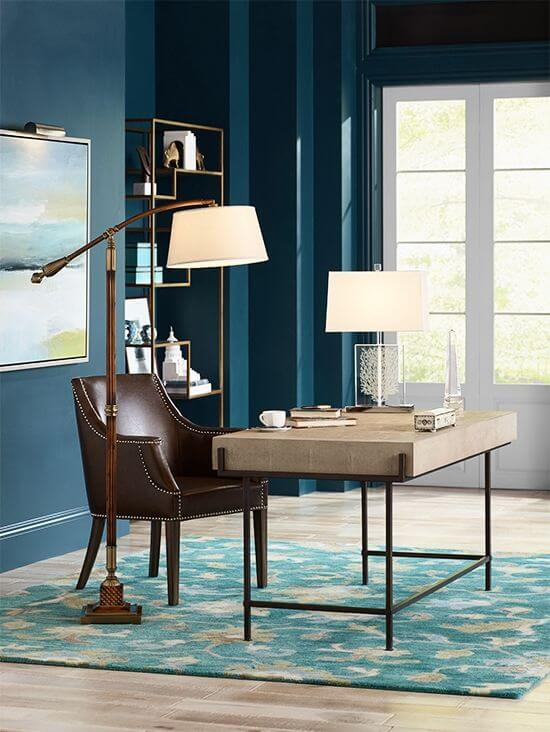 Elegant floor lamp for home office ideas