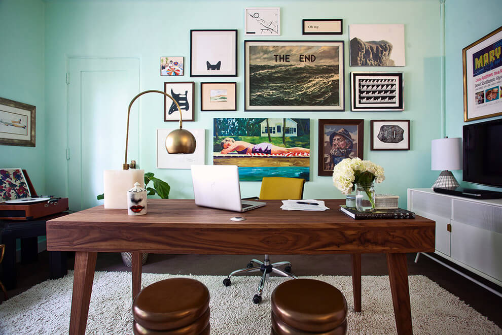 Gallery wall inspiration for working at home