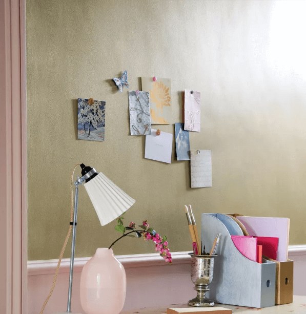 Using metallic paint for home office
