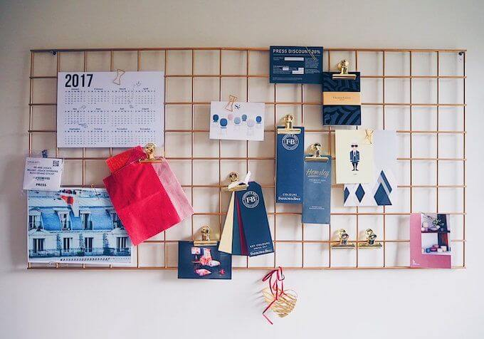 Noticeboard for home office ideas