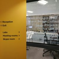 Vinyl graphics for glass and informative wall graphics at Webcredible London office.