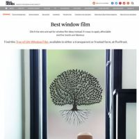 Article on the Real Homes website about Purlfrost window film.