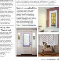 Article in the self-Build magazine about Purlfrost window film.