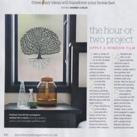 Article in Sainsbury's magazine about Purlfrost window film.