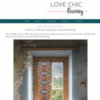 Article on the Love Chic Living blog about Purlfrost window film.