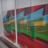 Made to order window film printing and installation Purlfrost