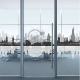 London Skyline Frosted Window Film