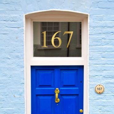 Vinyl Cut House Number Sticker For Glass Purlfrost