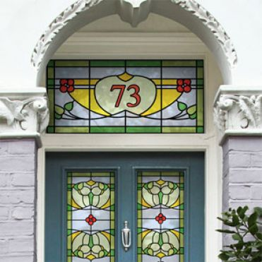 Stained Glass House Numbers