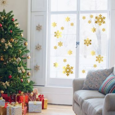 Festive decorative window stickers