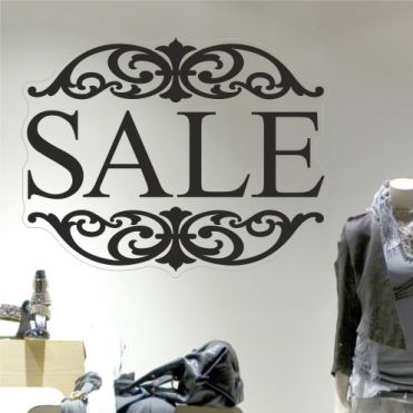 Sale Frame Shop Window Decals