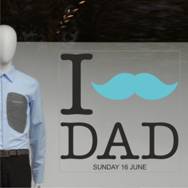 Father's Day Shop Window Stickers
