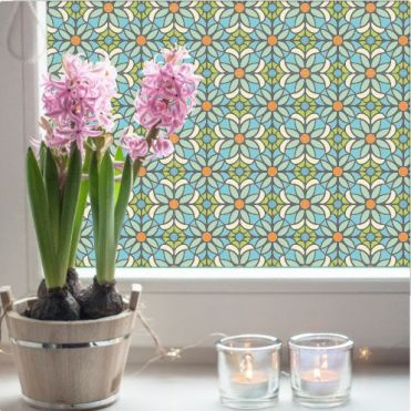 Floral Stained Glass Film Patterns