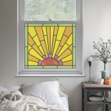 Faux Stained Glass Film