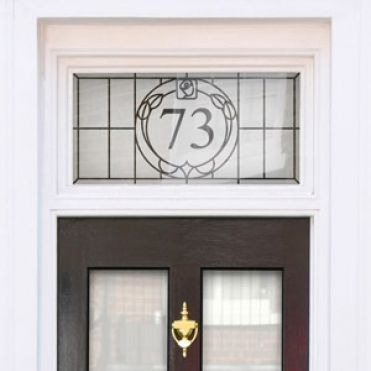 Art Deco House Number Stickers