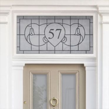 Art Nouveau House Number Stickers