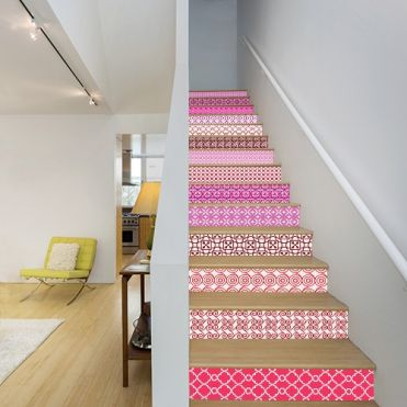 Modern Tile Stair Stickers