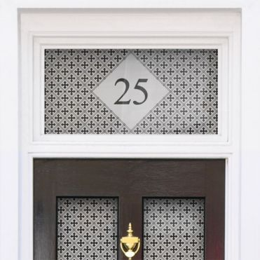 Pattern House Number Stickers