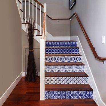 Victorian Tile Stair Stickers