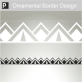 Lamia Ornamental Border Sticker