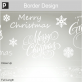 Festive Text Border Sticker