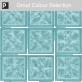 Blue 20cm Glass Blocks Window Film
