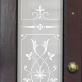 Alva Victorian Frosted Door Pattern