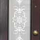 Iris Victorian Frosted Door Pattern