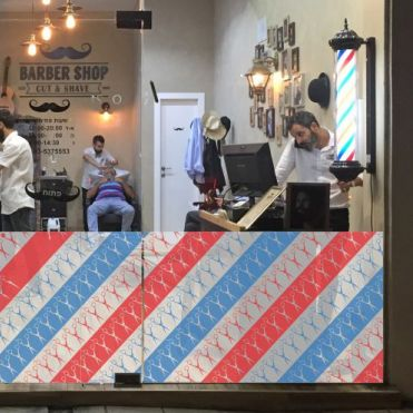 Banner for Barber Shop Window 2