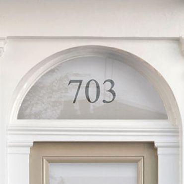 Fanlight House Number Sticker 1
