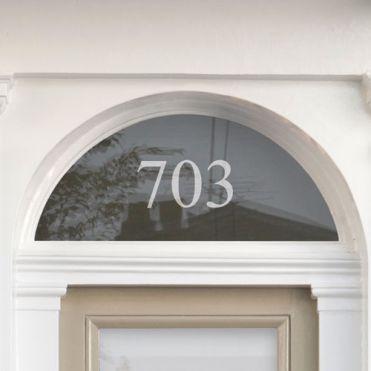 Fanlight House Number Sticker 1b