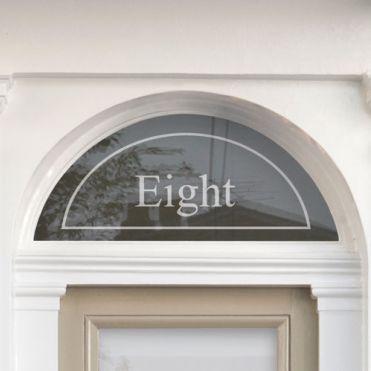 Fanlight House Number Sticker  6b