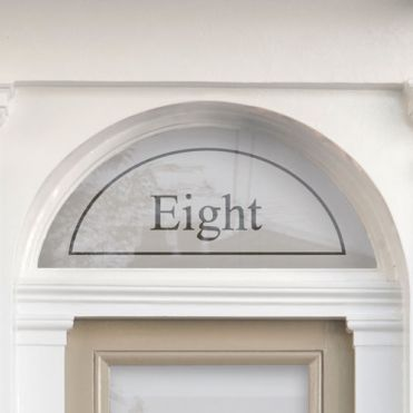 Fanlight House Number Sticker  6