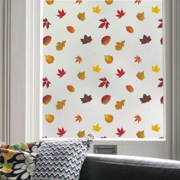 Autumn Leaves Pattern Window Film