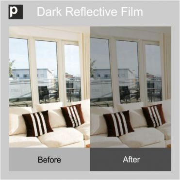 Dark Safety Reflective Window Film