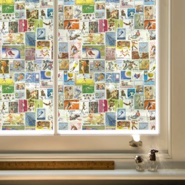 Sports Stamps Window Film