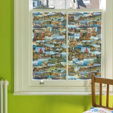 Travel Colour Postcards Window Film