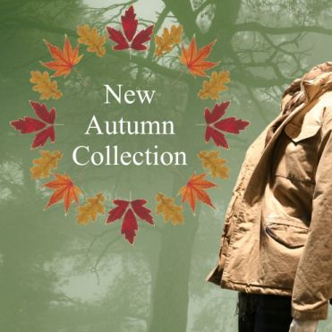 Custom Circular Autumn Leaves