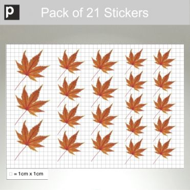 Pack Of Orange Leaf Stickers