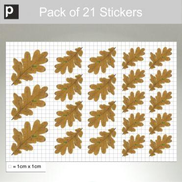 Pack Of Oak Leaf Stickers