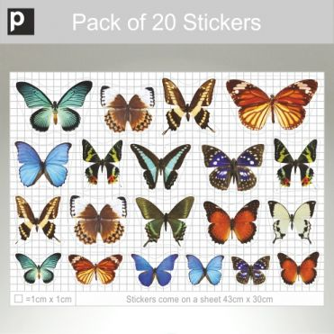 Mixed Pack Of Photo Realistic Butterflies