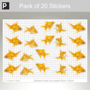 Mixed Pack Of Large Photo Realistic Goldfish