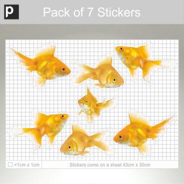 Pack Of Large Photo Realistic Goldfish