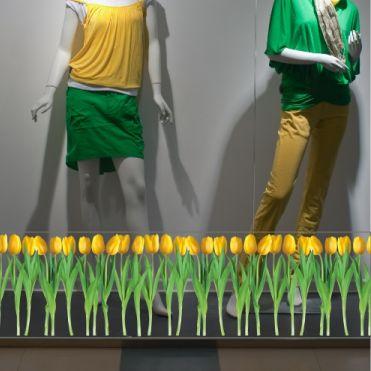 Yellow Tulips Border Sticker