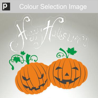 Happy & Grumpy Pumpkin Sticker