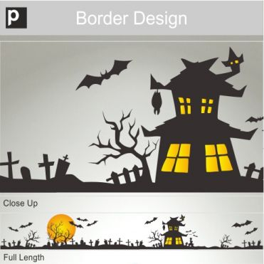 Graveyard Border Sticker