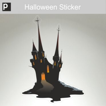 Spooky Castle Sticker
